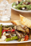 Plate of grilled vegetables Royalty Free Stock Photo