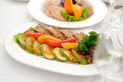 Plate with Grilled Vegetables Royalty Free Stock Photo