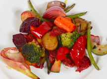 Plate of grilled vegetables Stock Photo