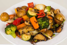 Plate of grilled vegetables Royalty Free Stock Photography