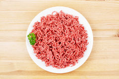 Plate with ground beef Stock Photos