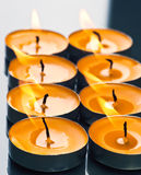 Plate groups candles Royalty Free Stock Photo