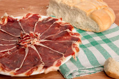 Plate of ham Royalty Free Stock Image