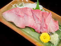 Plate of hamachi sashimi Royalty Free Stock Images