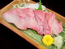 Plate of hamachi sashimi Royalty Free Stock Images