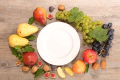 Plate and health food stock image