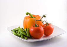 Plate of healthy foods Stock Photos