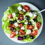 Plate of healthy Mediterranean salad Royalty Free Stock Image