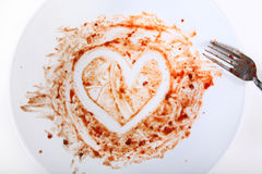 Plate with heart shape Stock Photo