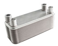 Plate heat exchanger Stock Images