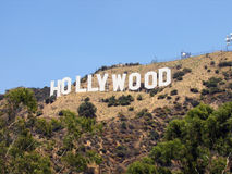 Plate of Hollywood at Los Angeles Royalty Free Stock Photos