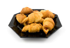 Plate with home made croissants Royalty Free Stock Photo