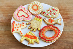Plate of homemade cookies Royalty Free Stock Images