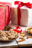 Plate of homemade cookies made from gingerbread Stock Image