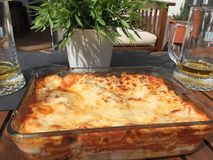 Plate of homemade lasagna Royalty Free Stock Image