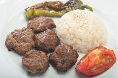 Plate of homemade meatballs Stock Photo