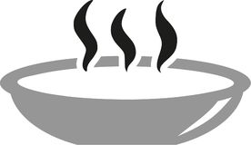 Plate with hot soup. Vector Royalty Free Stock Photography