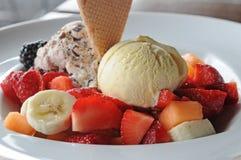Plate icecream Stock Photography