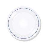 Plate illustration. Empty plate on a white background Stock Photo