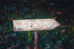 Plate index wedding stock photography