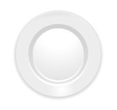 Plate isolated on white. Realistic white Plate isolated on white. Vector Illustration Royalty Free Stock Photo