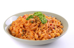 Plate of italian pasta Stock Photography