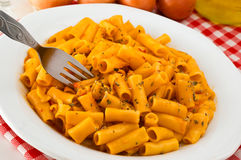 Plate of Italian pasta Royalty Free Stock Image