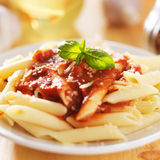 Plate of italian penne pasta Royalty Free Stock Image