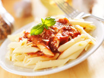 Plate of italian penne pasta Stock Image