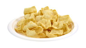 Plate of jalapeno seasoned potato chips Stock Images