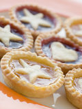 Plate of Jam Tarts stock images