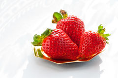 plate jordgubbar Arkivfoto