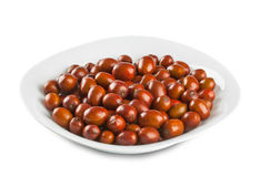 Plate of jujube Royalty Free Stock Image
