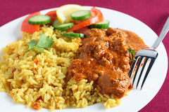 Plate of kashmiri curry closeup Stock Image