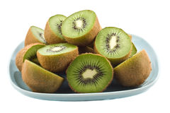 Plate of kiwi fruit. royalty free stock photo