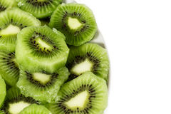 Plate with kiwi Stock Images