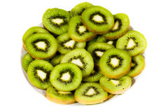 Plate of kiwi Royalty Free Stock Images