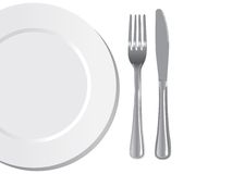 Plate Knife And Fork Royalty Free Stock Images