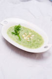 Plate with kohlrabi soup Royalty Free Stock Photo