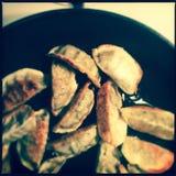 Plate of Korean dumplings Stock Images