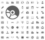 Plate, Lamella, Vinyl icon. Media, Music and Communication vector illustration icon set. Set of universal icons. Set of 64 icons.  Stock Image