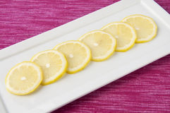 Plate of Lemons Royalty Free Stock Photo