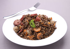 Plate of lentils Royalty Free Stock Image