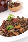Plate of lentils and vegetables Stock Images