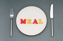 Plate with letters Stock Photo