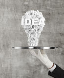 Plate with lightbulb Royalty Free Stock Photography
