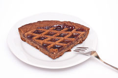 Plate with linzer torte Royalty Free Stock Photography