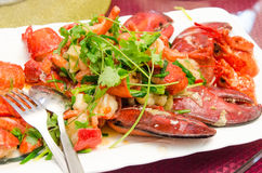 Plate of lobster Stock Photo