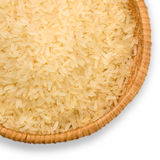 Plate of long grain rice Royalty Free Stock Image