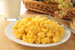 Plate of Mac and cheese Royalty Free Stock Image